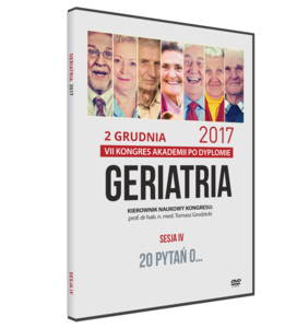 Film DVD - VII Kongres Akademii po Dyplomie GERIATRIA, 2 grudnia 2017 - SESJA IV