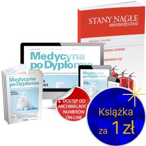 Medycyna po Dyplomie (roczna prenumerata papierowa + dostęp on-line) + Stany Nagłe Niemedyczne za 1 zł
