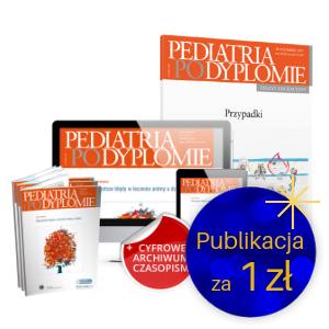 Pediatria po Dyplomie (roczna prenumerata papierowa i on-line) + Zeszyt edukacyjny Pediatrii po Dyplomie Przypadki za 1 zł